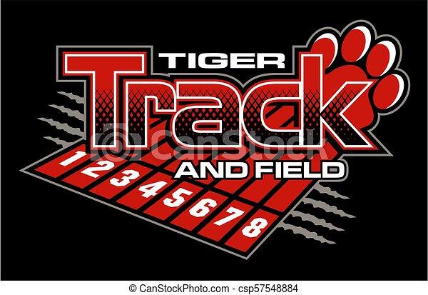Rastreo tigre y campo - csp57548884