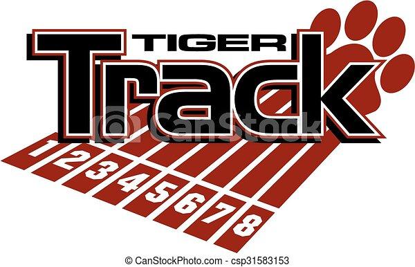 La pista del tigre - csp31583153