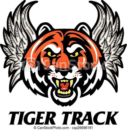 tigre, piste - csp26696191