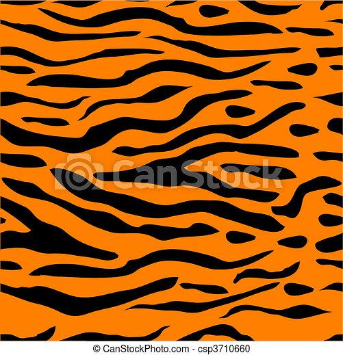 Tiger rayado sin fondo - csp3710660