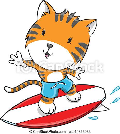 Ilustración del vector del tigre - csp14366938