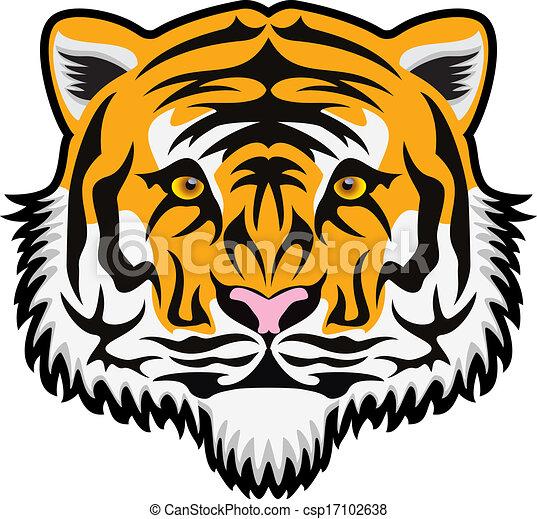 Cara de tigre vector - csp17102638