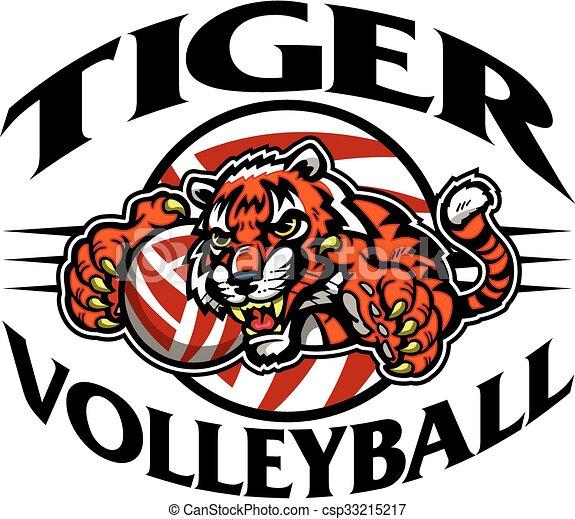 Voleibol tigre - csp33215217