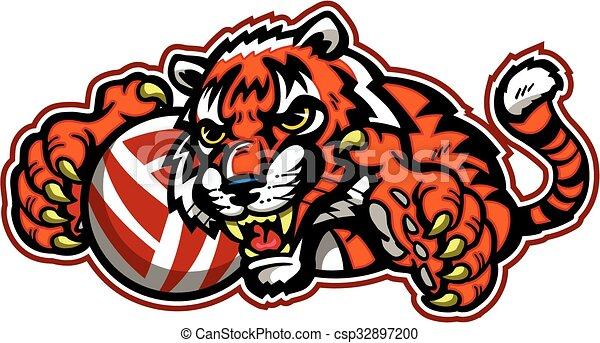 Voleibol tigre - csp32897200