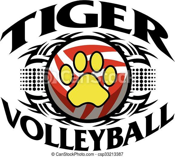 Voleibol tigre - csp33213387