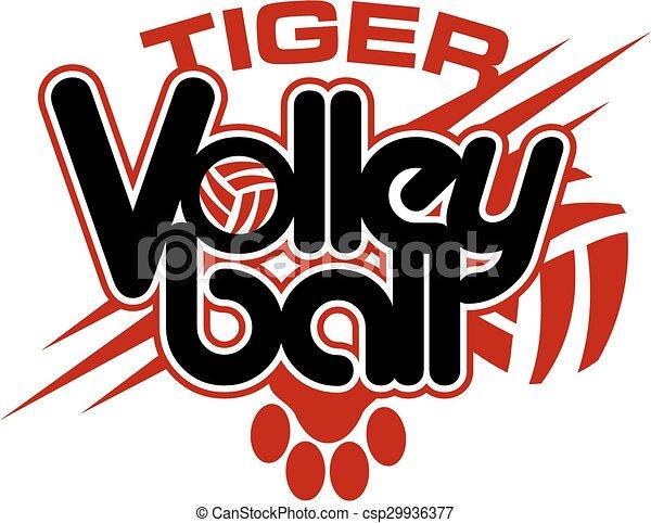 Voleibol tigre - csp29936377