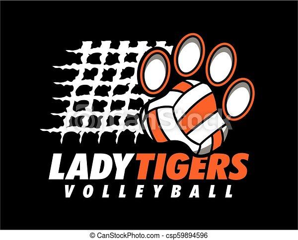 Dama tigres voleibol - csp59894596