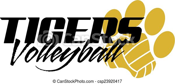 Voleibol de tigres - csp23920417