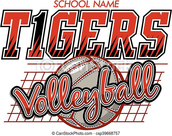 Voleibol de tigres - csp39668757