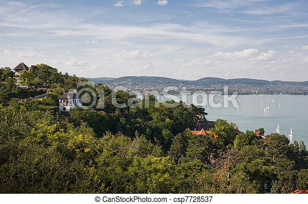 Tihany and lake Balaton. - csp7728537