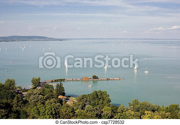 Tihany and lake Balaton. - csp7728532
