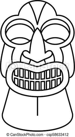 tiki idol icon outline style tiki idol icon outline tiki idol rh canstockphoto com vector tiki mask tiki vector adobe illustrator