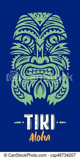 Máscara de Tiki totem - csp48734207