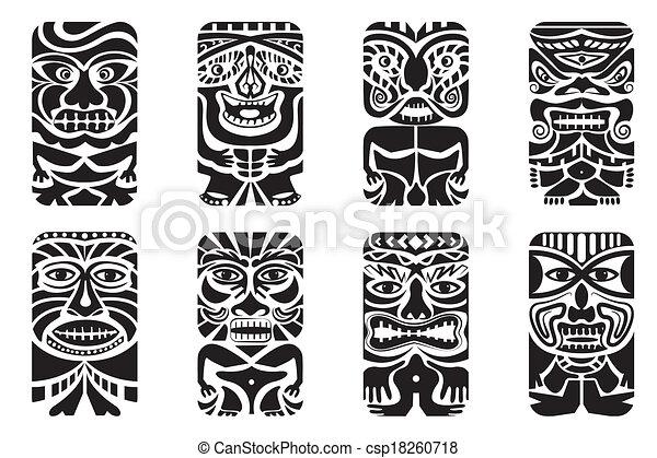 Easy to edit vector illustration of tiki mask vector clip art tiki mask csp18260718 stopboris Gallery