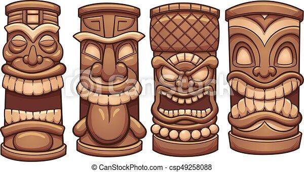 Tiki totens arte clip separado simples ilustrao layer tiki totens csp49258088 stopboris Images