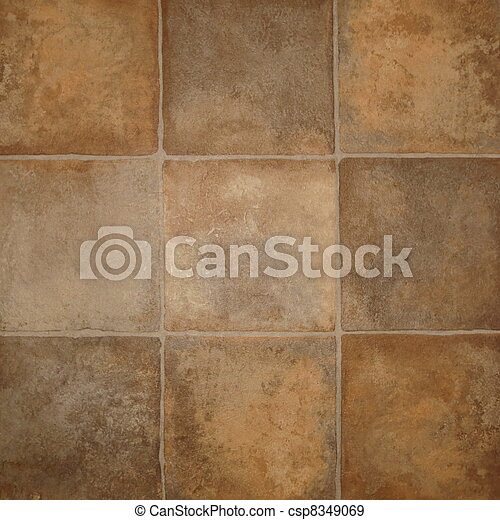 Close Up Of Tile Effect Vinyl Floor Covering