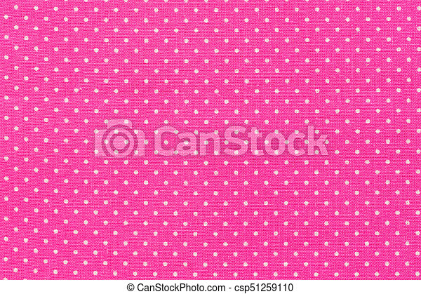 Tile pink cute pattern with white dots. - csp51259110