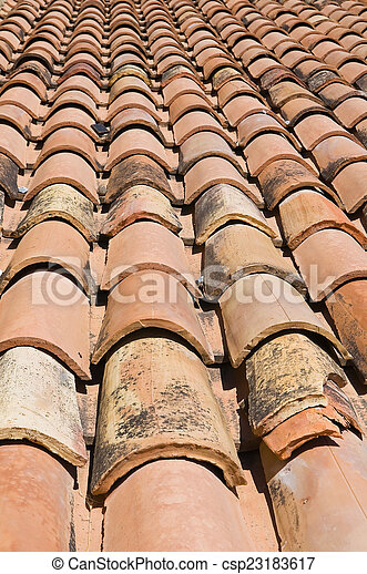 Tile roof. - csp23183617