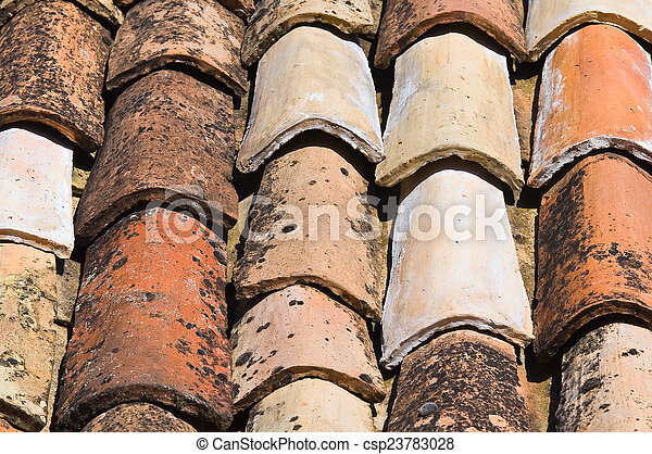 Tile roof. - csp23783028