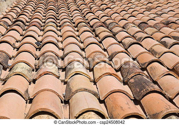 Tile roof. - csp24508042