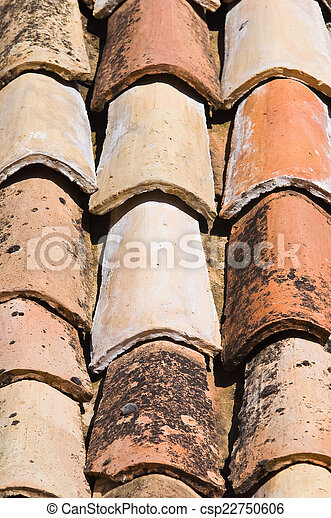 Tile roof. - csp22750606