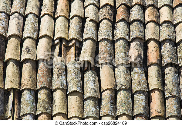 Tile roof. - csp26824109
