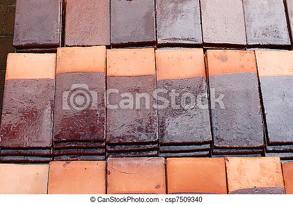 Tile roof - csp7509340