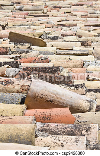 Tile roof. - csp9428380