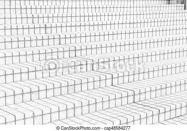tile stairs in black and white tone - csp48584277