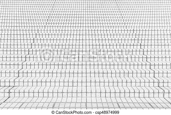 tile stairs in black and white tone - csp48974999