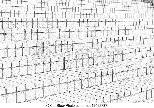 tile stairs in black and white tone - csp48422737