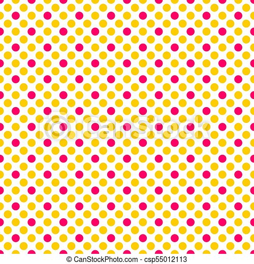 Tile Vector Pattern With Pink And Yellow Polka Dots On White Background,Backyard Baby Shower Decorations Outdoor