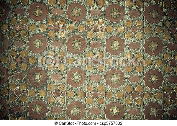 Tiled background with oriental ornaments   - csp5757802