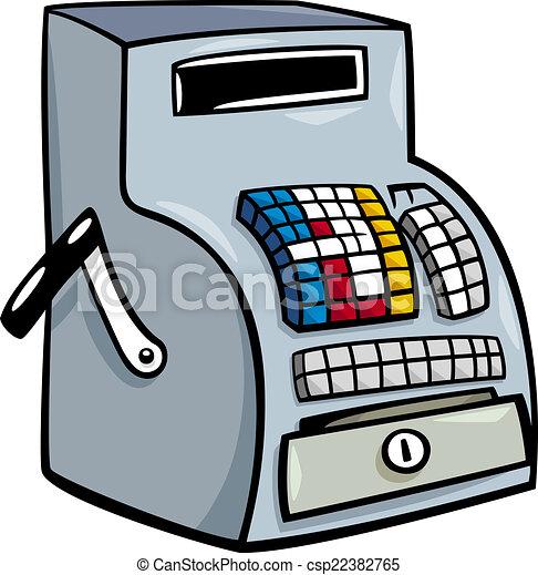 till or cash register cartoon clip art - csp22382765