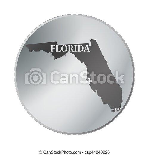 tillstånd, mynt, florida - csp44240226