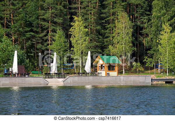 Timber quay - csp7416617