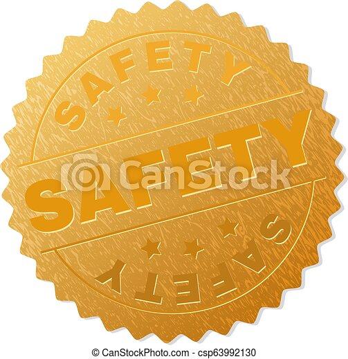 timbre, doré, sécurité, récompense - csp63992130