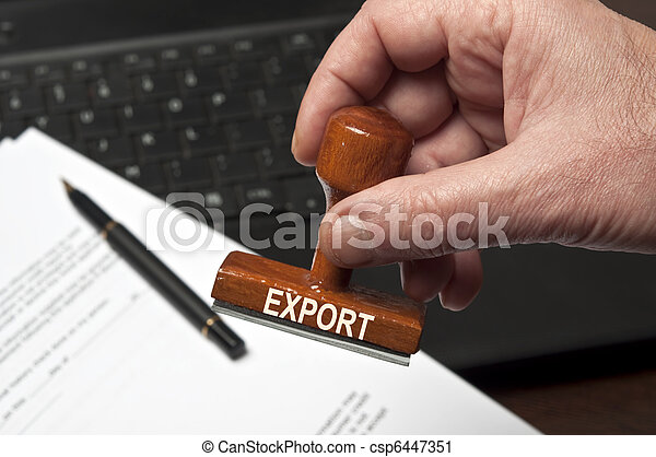 timbre, exportation - csp6447351