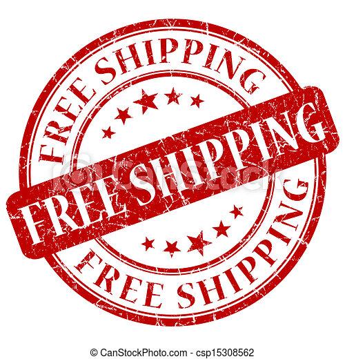 timbre, gratuite, expédition, rouges - csp15308562