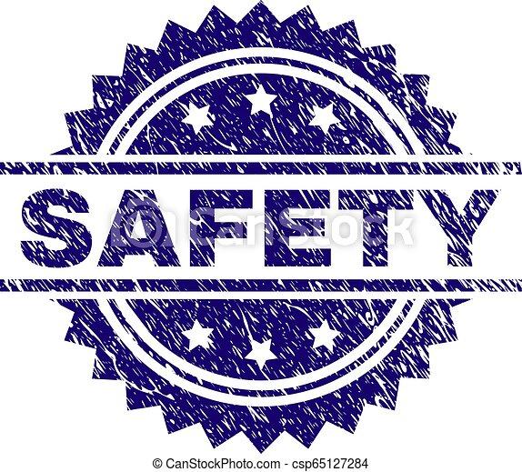 timbre, grunge, textured, label sécurité - csp65127284