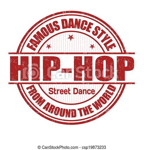Timbre hip hop grunge c l bre danse illustration tampon vecteur blanc hip hop style - Coloriage hip hop ...