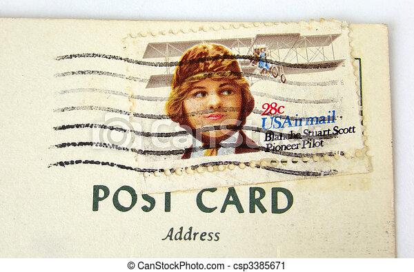 affranchissement carte postale usa