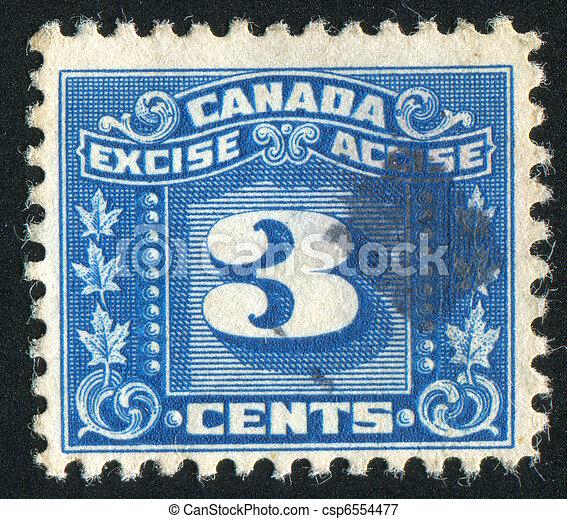 timbre postal - csp6554477