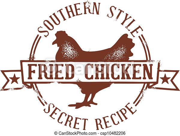 timbre, poulet, frit, méridional - csp10482206