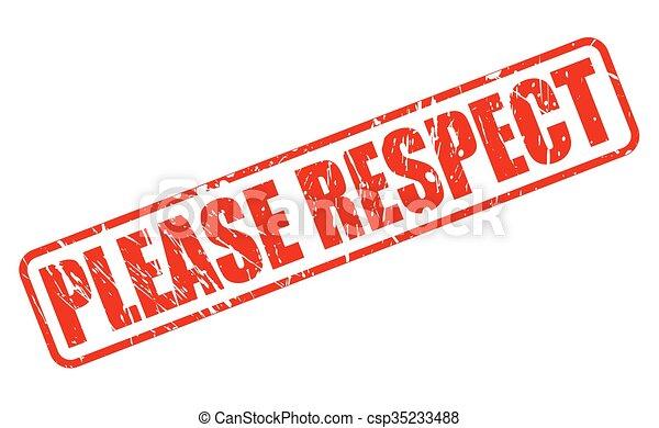 timbre, respect, s'il vous plaît, rouges, texte - csp35233488