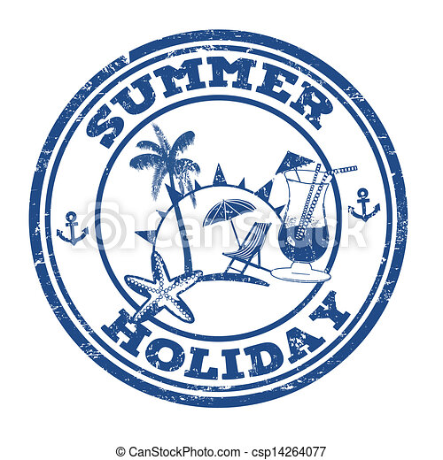 timbre, vacances été - csp14264077