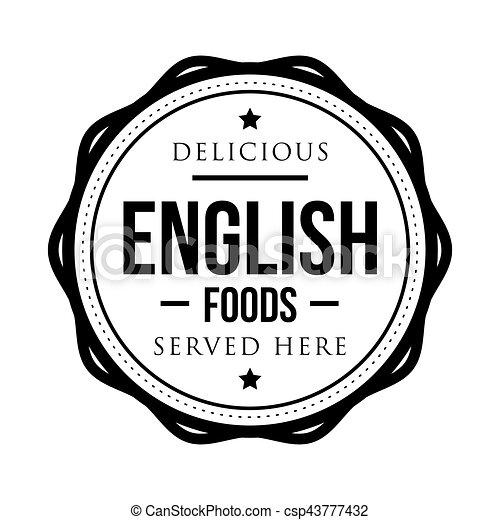 timbre, vendange, nourritures, délicieux, anglaise - csp43777432