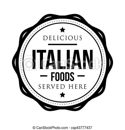 timbre, vendange, nourritures, délicieux, italien - csp43777437