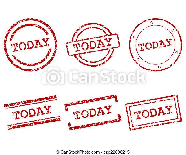 timbres, aujourd'hui - csp22008215