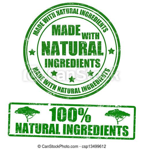 timbres, fait, naturel, ingrédients - csp13499612
